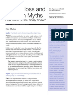 Myths and facts on diet