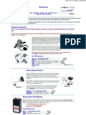 Strahlenfolter - Ultrasonic Devices   Ultrasound   Hearing