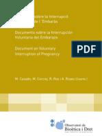 Documento Sobre La Interrupcion Voluntaria Del Embarazo