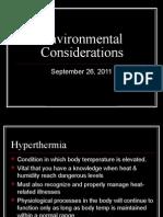 Environmental Considerations(1)