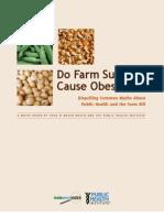 Do Farm Subsidies Cause Obesity?