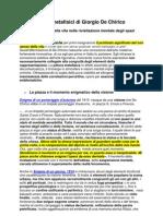 Spazi Metafisici Di Giorgio de Chirico