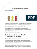 La Public Id Ad en Internet en La Era de Facebook