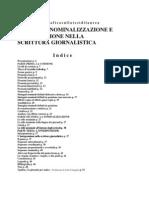 Nominalizzazione Nella Scritura Giornalistica