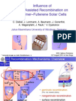 Influence of Trap-Assisted Recombination on Polymer–Fullerene Solar Cells , Carsten Deibel et al,  SPIE 2011 in San Diego