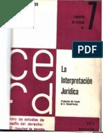La interpretación jurídica. Chaim Perelman