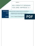 Materi III Presentasi Kreatif Dengan OpenOffice.org Impress 3.1