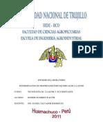Informe de Lab Oratorio de Leches 2011