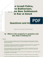 New Ras al Ras al Amud Settlement - Q and A