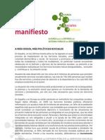 Manifiesto Alianza SS.ss.