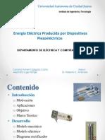 Energía Eléctrica Producida por Dispositivos Piezoeléctricos