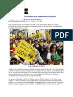 16-10-11 Magisterio marcha en defensa de la educación pública