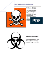 Fourth Grade Science Safety Symbols