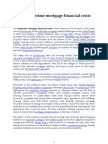 2007 Subprime Mortgage Financial Crisis