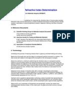 Glass Refractive Index Determination