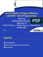 Seven Habits of Highly Successful LabVIEW Programmers