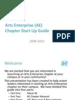 Arts Enterprise (AE) Start Up Guide