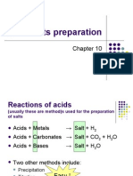 Ch 10 Salts & its preparation