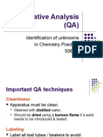 Ch 11 Qualitative Analysis (QA)