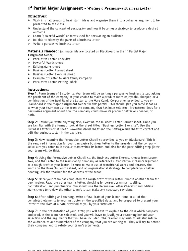 6 Ibi 2007 01 22 Writing A Business Letter Instructions