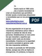 Red Solidaria Recopilacion