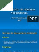 Nadia Eliminación de residuos hospitalarios