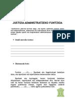 Justizia administratzeko funtzioa