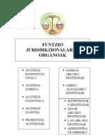 Funtzio jurisdikzionalaren organoak
