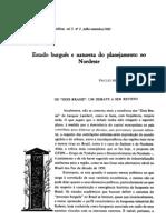 Estado Burgues e natureza do planejamento no Nordeste