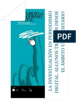 LA INVESTIGACION EN EL PERIODISMO Y LA COMUNICACIÓN DIGITAL - Varios 1