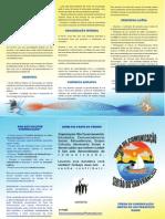 Folder do Fórum de Comunicação