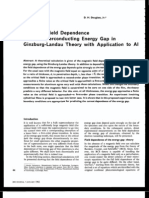 Douglass , Magnetic Field Dependence of the Superconducting Energy Gap in Ginzburg-landau Theory With Application to Al