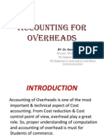 Accounting for Overheads by Dr Kamlesh Khosla