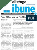 Napa LGBTQ Forum -Calistoga Tribune - 2011-10-14