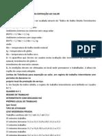TRABALHO CALOR FRIO