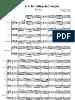 Vivaldi D Concerto Score KV 121
