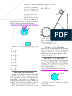Torque Dynamics Problems