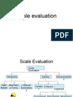 Scale evaluation