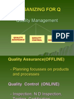 organising for quality