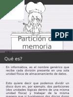 Particion de Memoria