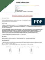 Análisis de Laboratorio ACEITES VEGETALES