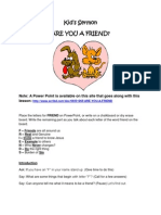 Are You A Friend ?  Object Lessons
