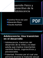 Desarrollo Fisico y Cognoscitivo de la Adolescencia