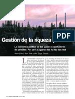 Gestion de La Riqueza Petrolera