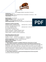 Soccer College Template