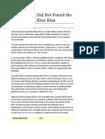 Albert Pike Did Not Found the Ku Klux Klan (Masonic Apologetics)