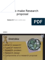 How to Make Research Proposal