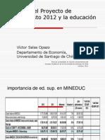 proyecto presupuesto 2012 y educación superior