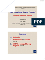 ADB Knowledge Sharing Center's Role and Functions - Ryu Fukui