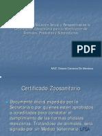Expedicion de Certificado Zoosanitarios